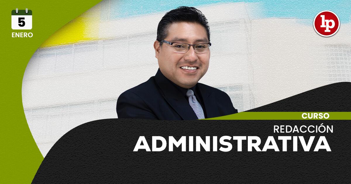 Curso de redacción administrativa. Inicio: 5 de enero