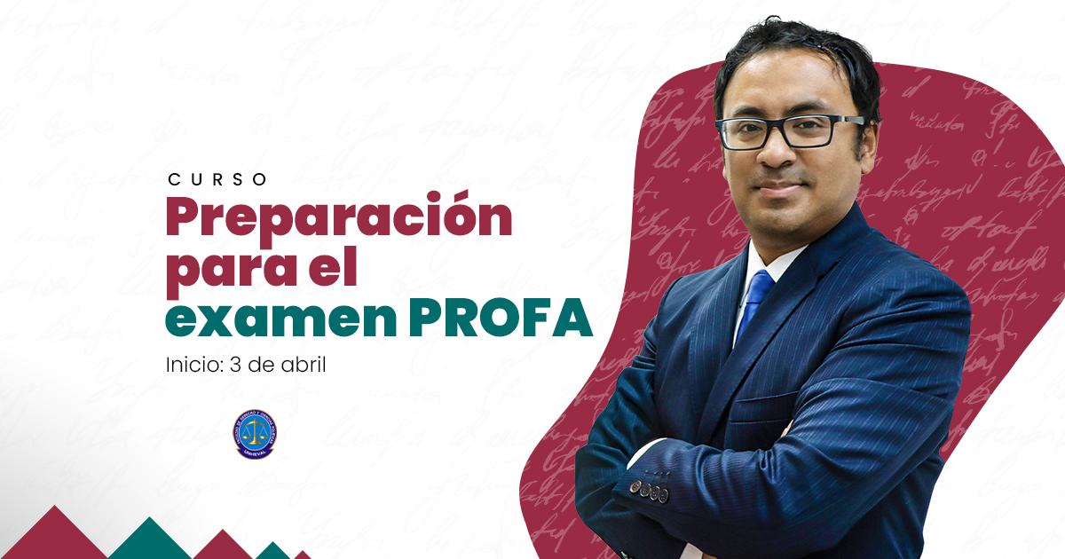 Curso de preparación para el examen PROFA. Inicio: 3 de abril.